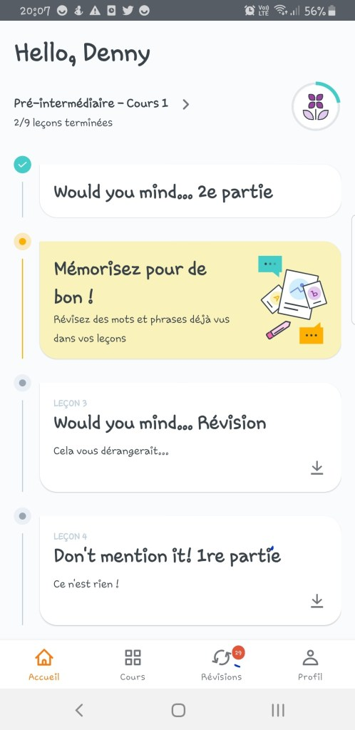 Screenshot_20191128-200743_English-498x1024 Babbel - Ou apprendre l'anglais sur son smartphone