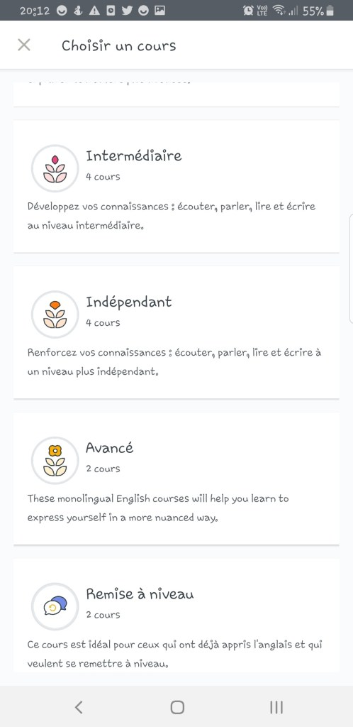 Screenshot_20191128-201229_English-498x1024 Babbel - Ou apprendre l'anglais sur son smartphone