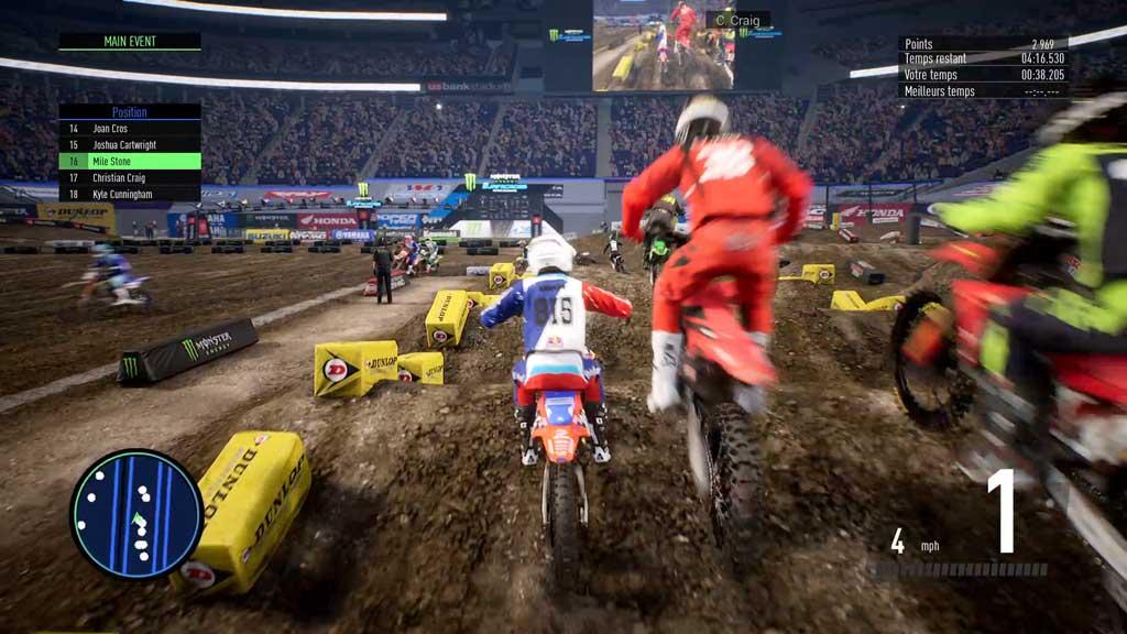 en_jeuII Mon avis sur Monster Energy Supercross 3 - Attention à la chute !