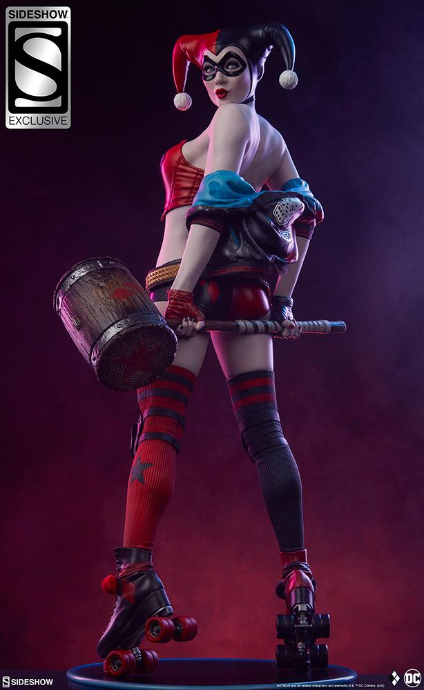 harley-quinn-hell-on-wheels_dc-comics_gallery_5e30bbef535fb Figurine - Harley Quinn en roller par SideShow