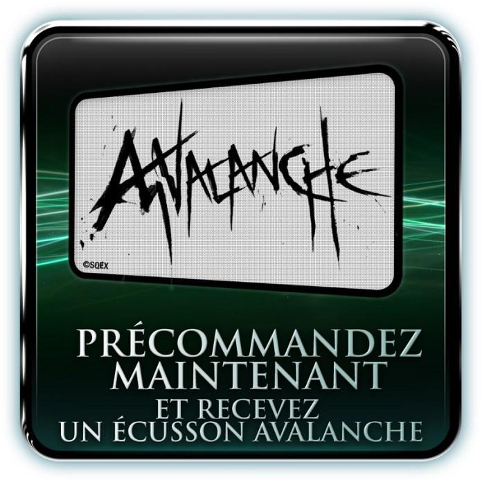 ecusson_avalanche Final Fantasy VII - Steelbook et édition spéciale au meilleur prix