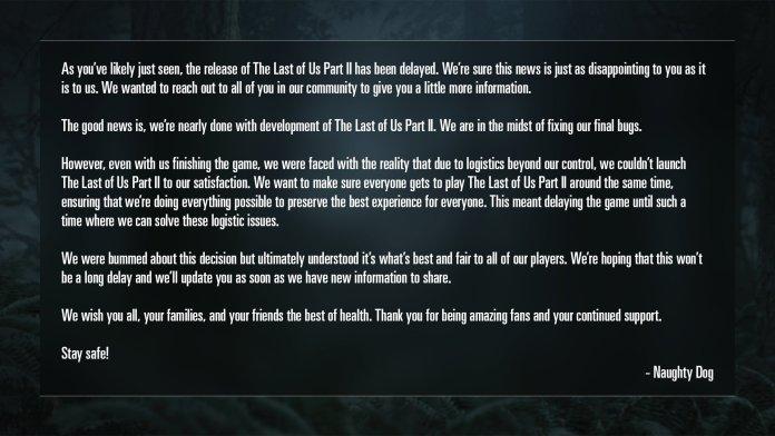 Last-of-us-2-report-1024x576 The Last of Us II repoussé à cause du Covid-19