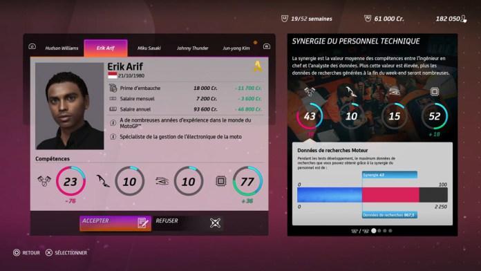 Menu_Carrirere_Gest_Equi_MotoGP20 Mon avis sur Moto GP20 - Wheeling power !
