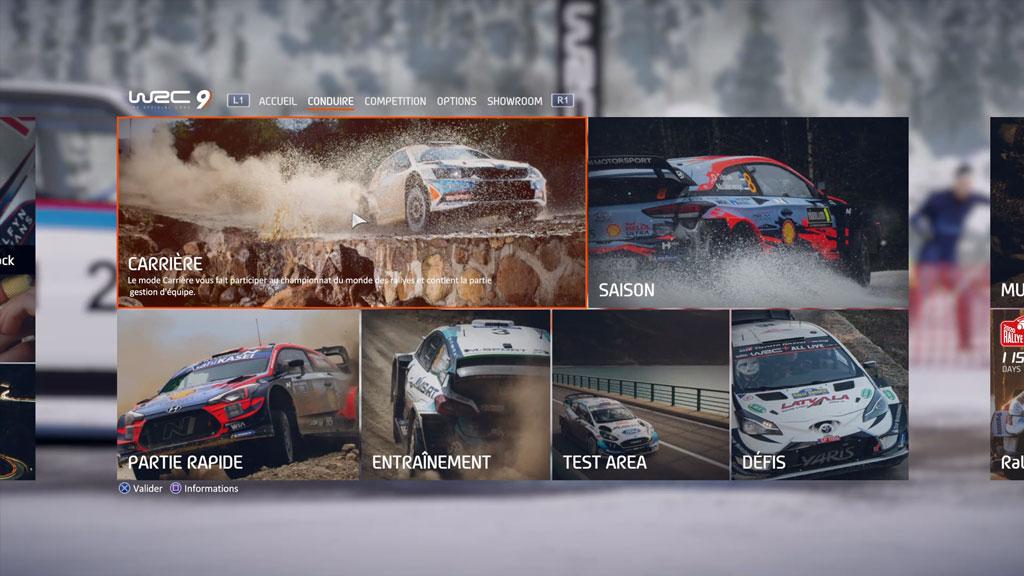 WRC9_menu_accueil2 Mon avis sur WRC 9 - Long droit sur ciel