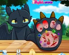 Toothless Foot Injury Dragon Riders Of Berk Games