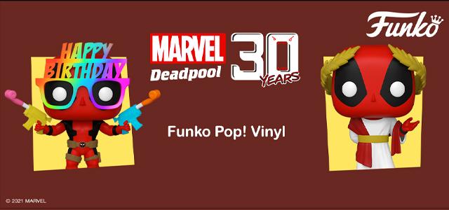 Deadpool 30th Anniversary Funko Banner