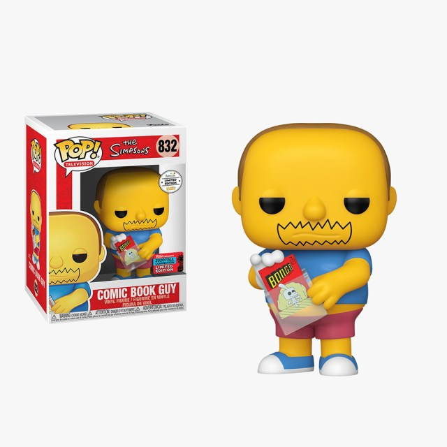 Funko Pop! Exclusives Games Academy Television 832 The Simpsons Comic Book Guy