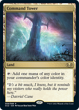 MTG Showcase 2021 Commander Collection Black - Command Tower