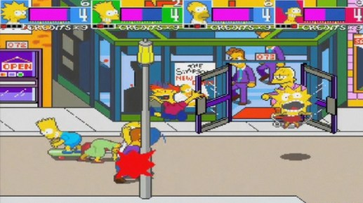 the simpsons arcade game konami