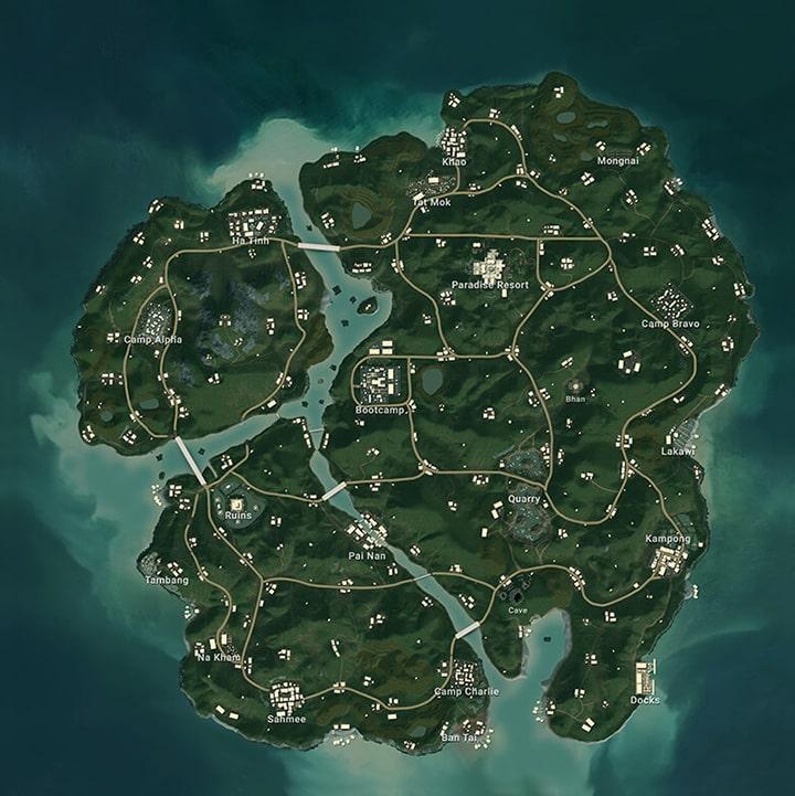 PUBG Sanhok Map
