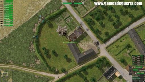 Explosões são intensas em Close Combat: Gateway to Caen