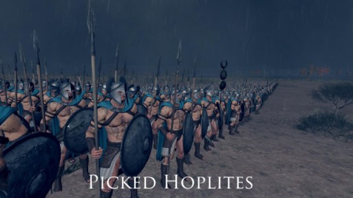 Tropas Atenienses no mod de Rome 2 Total War