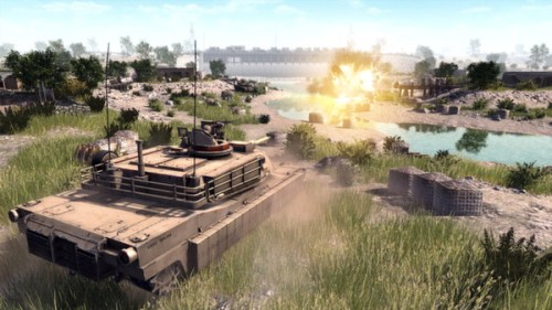 Tank atirando em Call to Arms