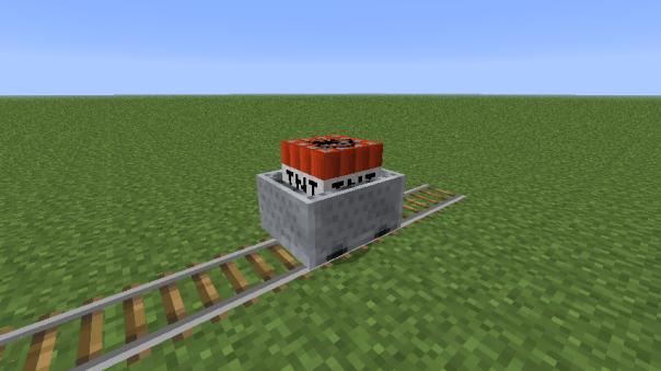 Vagoneta con TNT minecraft .1.5