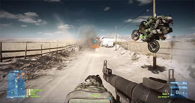 Battlefield 3: End Game Captura la bandera en moto