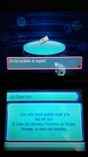 Ticket Eon Pokemon Rubi Omeg Zafiro Alfa