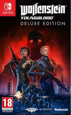 Wolfenstein 2  Youngblood  Switch  AT Deluxe Edition  Code in a Box