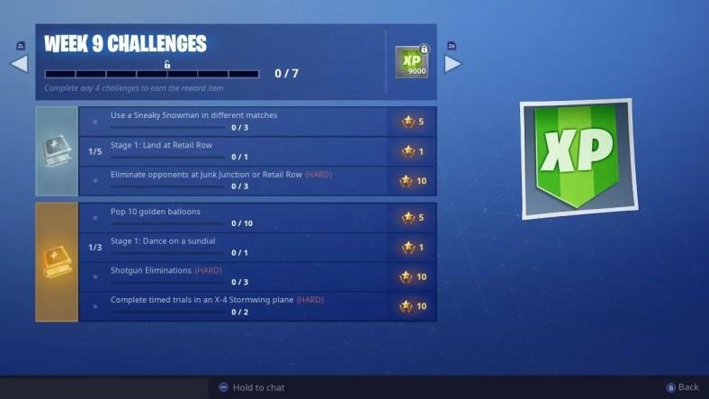 Fortnite Season 7 Week 9 Challenges Guide