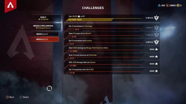 Apex Legends Season 2 Week 2 Challenges