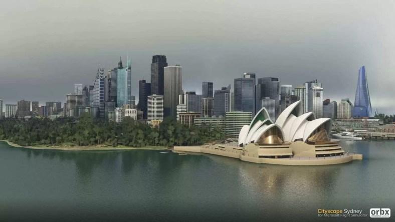 Cityscape Sydney Microsoft Flight Simulator