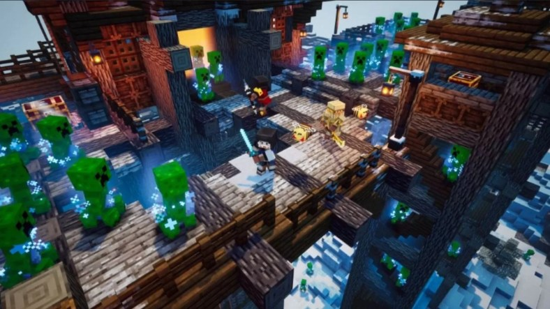 Minecraft Dungeons Creeping Winter Enchantments Guide