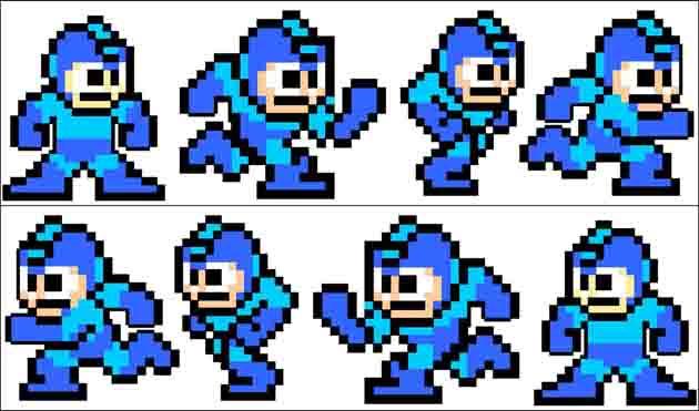 Sprites do Mega Man