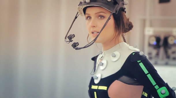Camilla Luddington na captura de movimento para Lara Croft