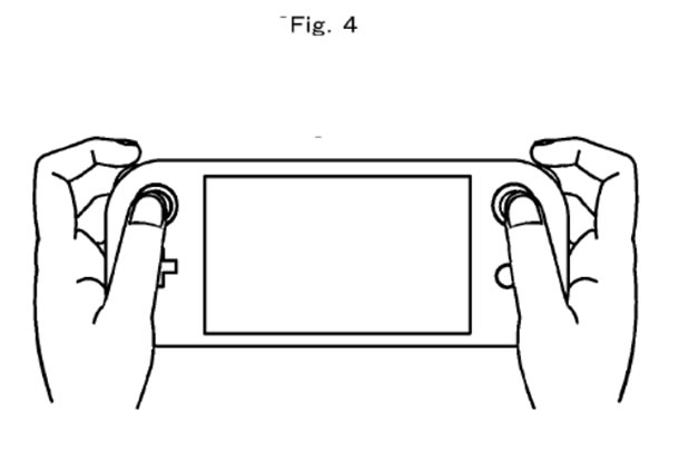 Patente com botões de ombro com rolagem