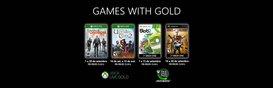 Xbox Games With Gold de Setembro Revelados