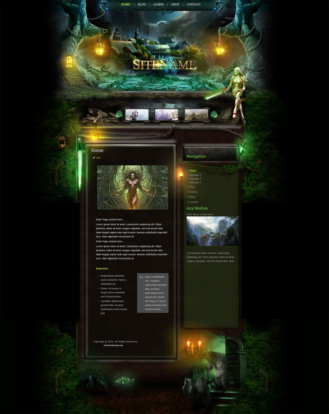 Forest HTML Template