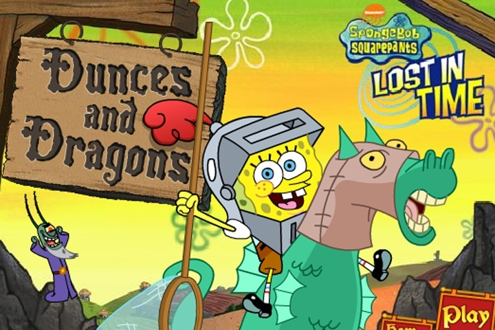 SpongeBob Dunces and Dragons Lost in Time Game   Spongebob games     SpongeBob Dunces and Dragons Lost in Time Game