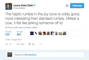 """Laura Kate Dale ci dona un """"parere personale"""" sul rumble dei Joy-Con di Nintendo Switch"""