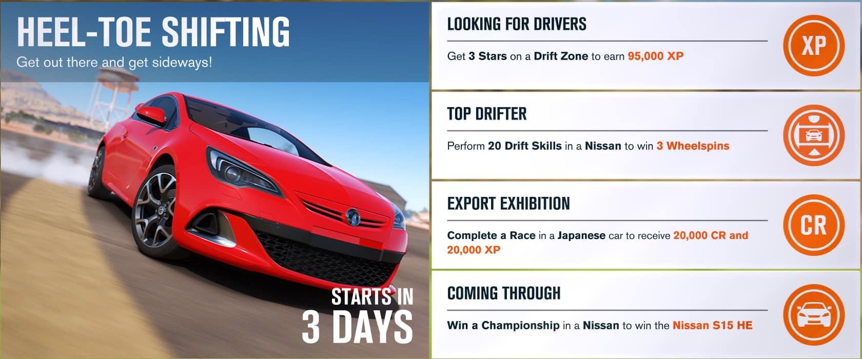 Forza Horizon 3 Forzathon Challenges Week Commencing 4th September 2017 GameSpew