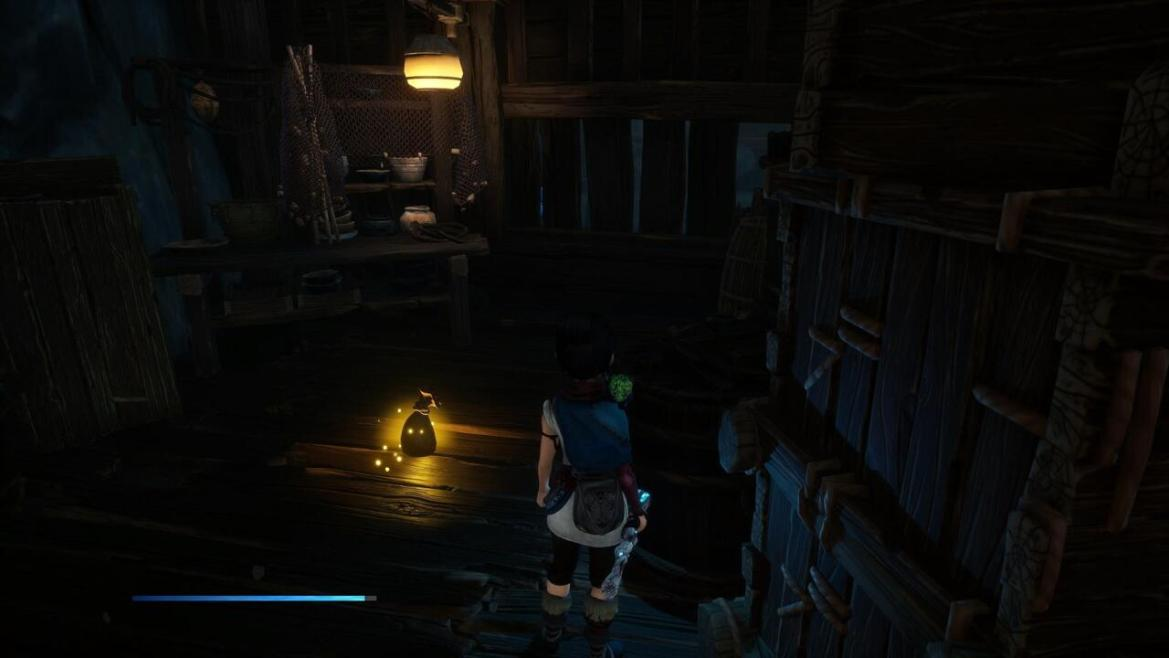 Thoroughly check the Storehouse before you leave--there are lots of collectibles you can reach by making paths using your bombs, including the Spirit Mail on the second floor.