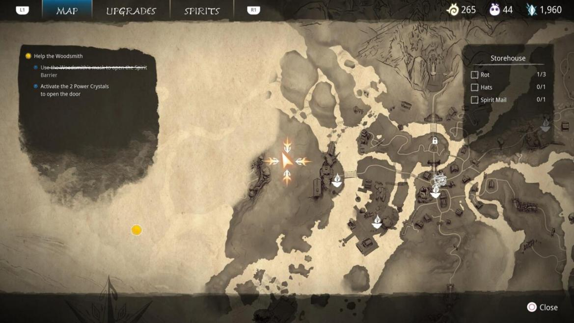 The Storehouse is a pretty simple area, and the Spirit Mail isn't hard to find if you check it thoroughly.