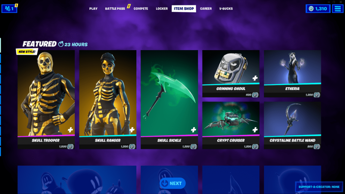 The Item Shop is certified spooky today.