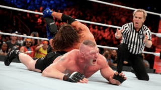 """AJ Styles And Brock Lesnar's Survivor Series Match Showed Why it Doesn't  Matter Whether Wrestling Is """"Real"""" - GameSpot"""
