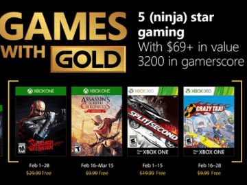 Games with Gold Februar 2018