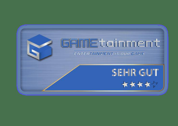 GAMEtainment Wertungsbox Sehr Gut