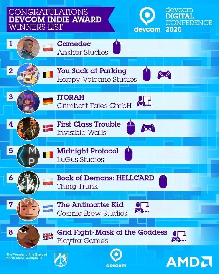 gamedec indie award