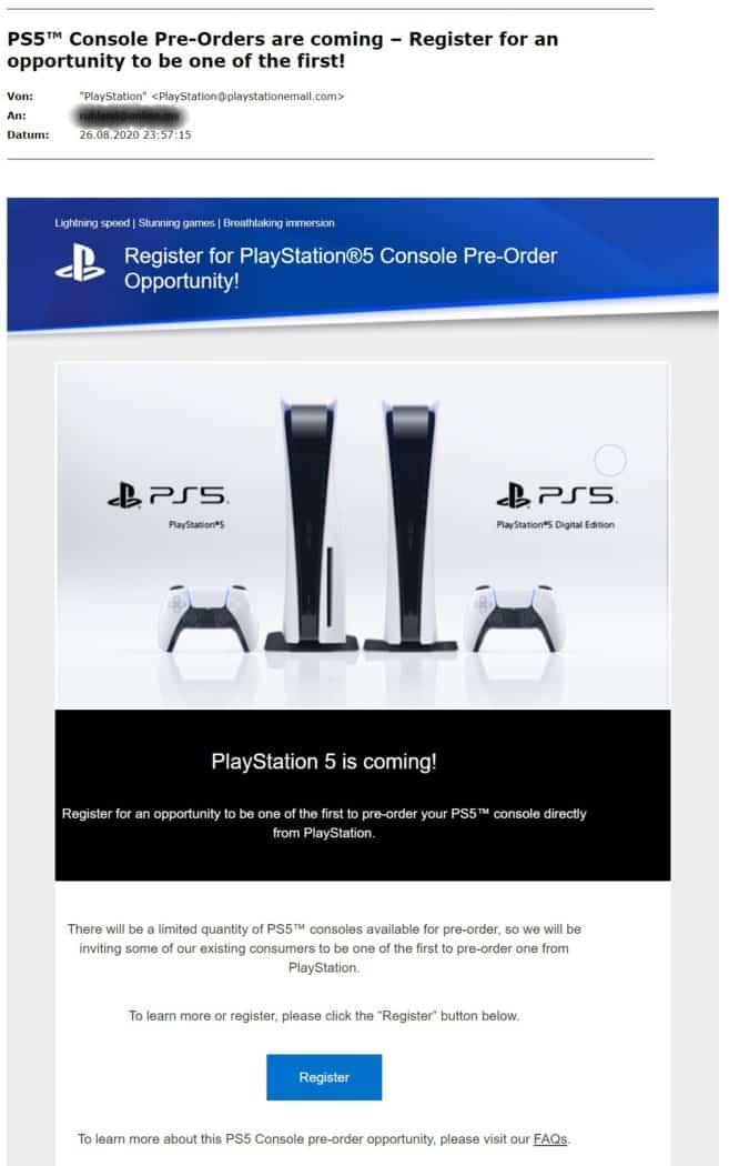 playstation 5 pre order