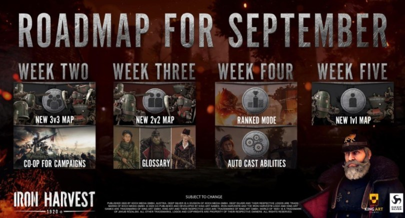 Iron Harvest - Roadmap September