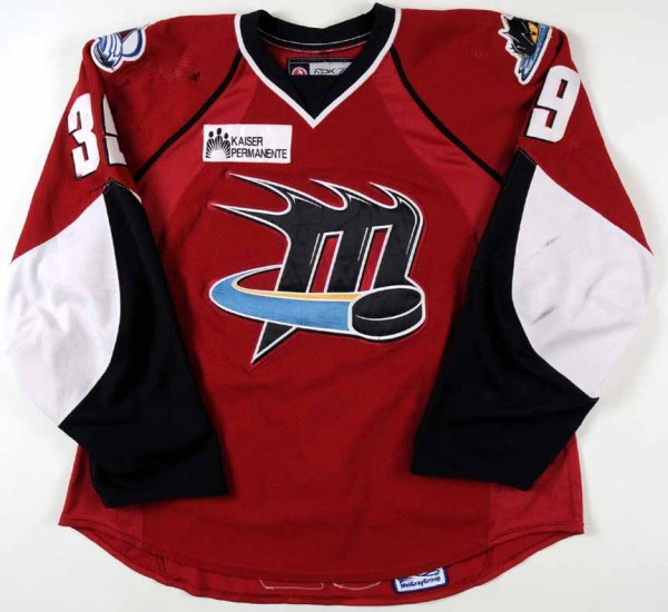 2008-09 T.J. Galiardi Lake Erie Monsters Game Worn Jersey ...