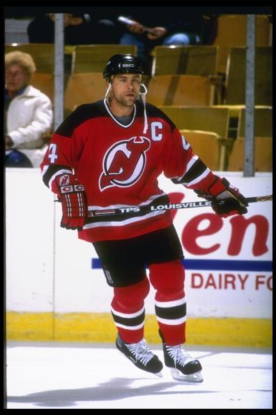 Scott Stevens New Jersey Devils Red CCM Game Worn Gloves ...