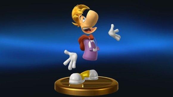 Rayman als Trophäe im neuen Super Smash Bros.