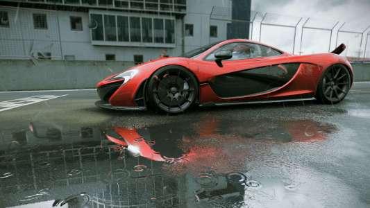 Ein englisches Auto im Regen. Wie klischeemäßig