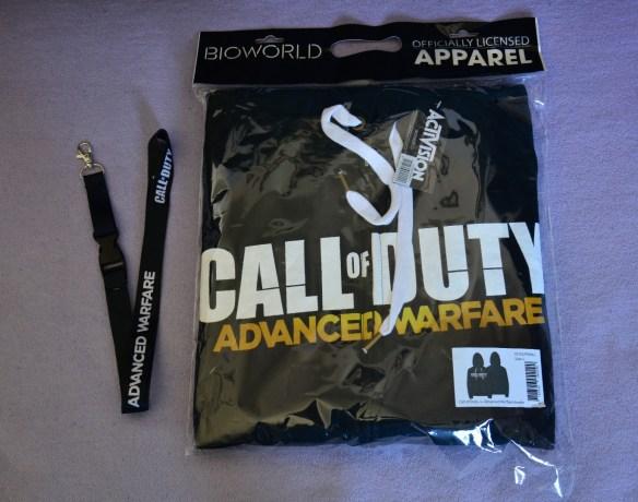 3, Preis: Ein CoD Advanced Warfare Hoodie und Lanyard