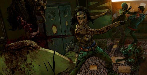 Nicht zimperlich: Michonne greift zu rabiaten Mitteln im Kampf gegen die Beißer.