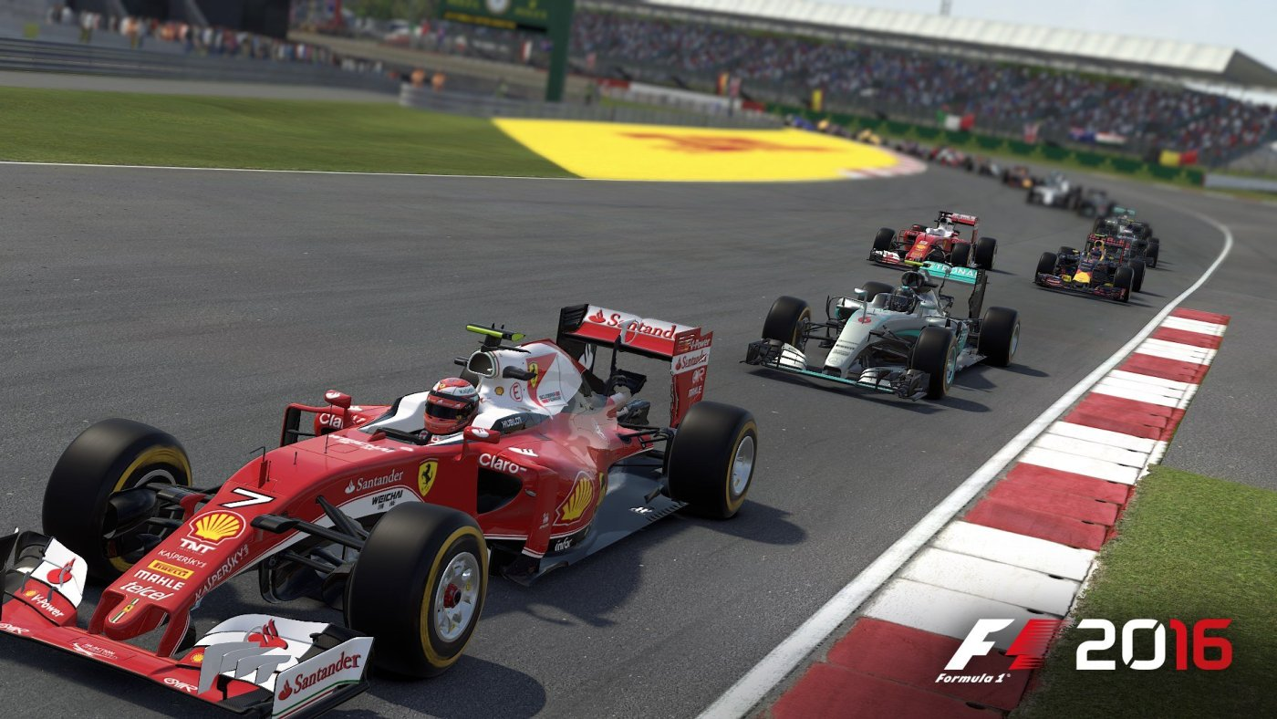 In der realen Formel 1 mittlerweile ein seltenes Bild: Ein Silberpfeil führt nicht das Feld an.