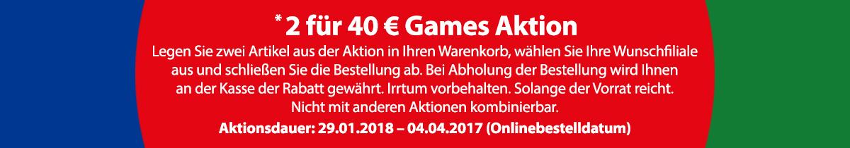 Müller 2 Spiele für 40 Euro